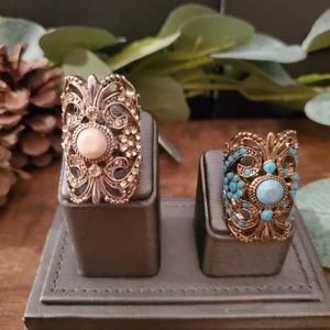 GORGEOUS Set of 2 Rings size 4.5